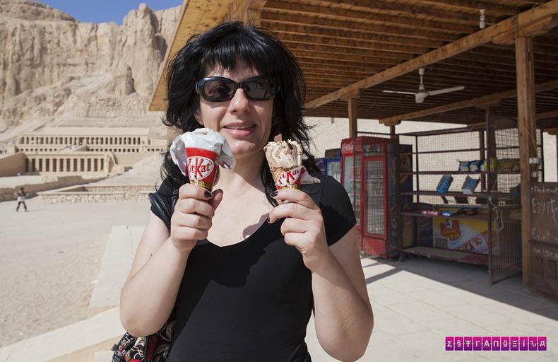 O sorvete de Kit Kat é uma delícia!