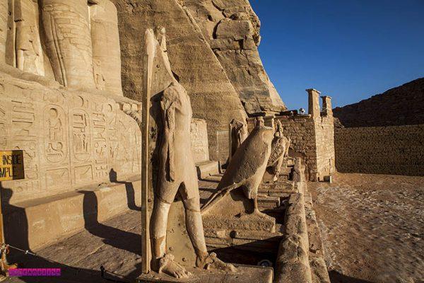 Detalhe de um dos templos de Abu Simbel