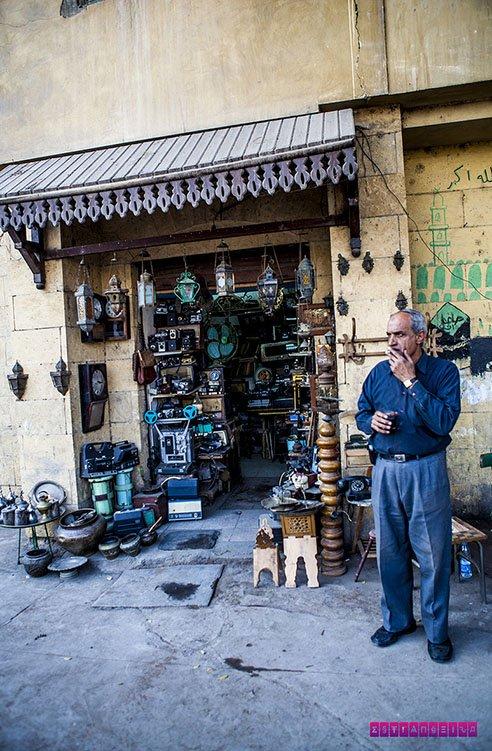 Uma lojinha das ruas do Cairo...