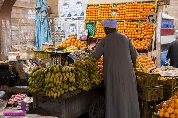 Mais uma foto do mercado de rua de Aswan.