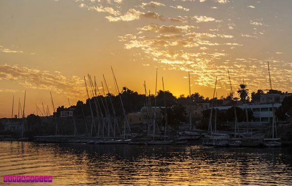 O por do sol no Rio Nilo é sempre de arrepiar!