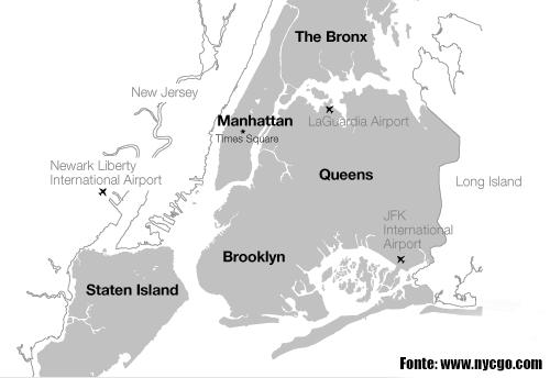 Mapa NY city