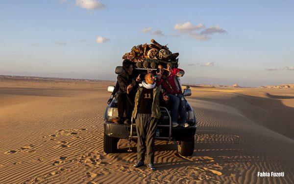 Nós com o Loly no 4x4 no Western Desert, no Egito