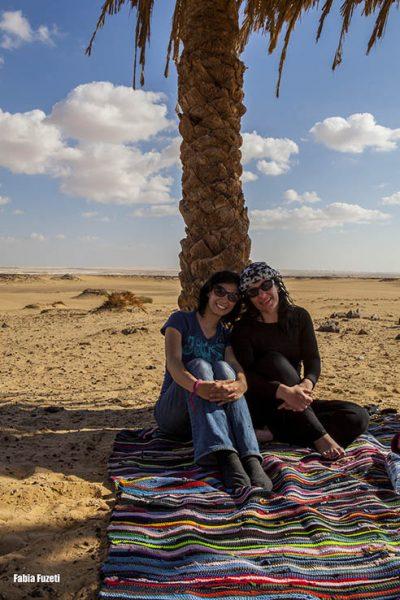 Gabi e Fabia no deserto - Egito