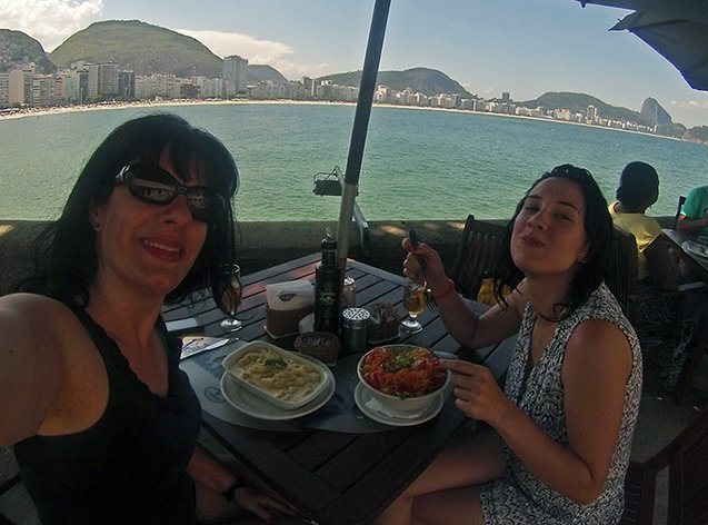 Almoço na Colombo do Forte de Copacabana.