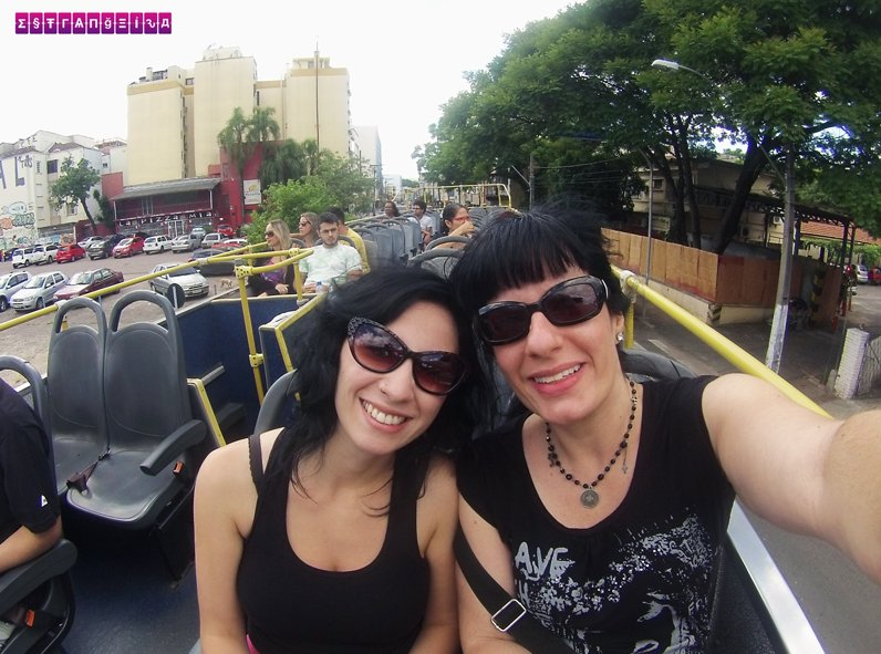 Estrangeiras no Ônibus Linha Turismo - PoA