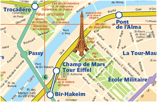Mapa do Campo De Marte - Paris