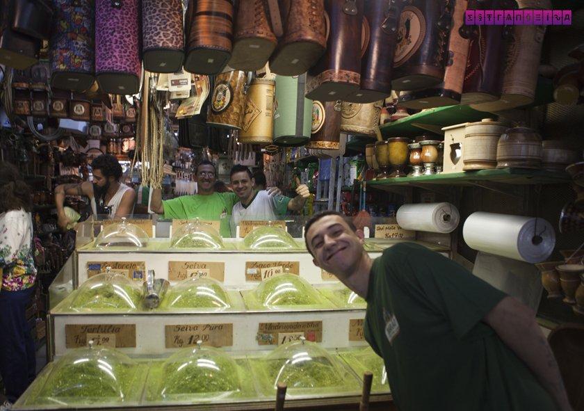 Loja de artigos gaúchos tradicionais no Mercado Público
