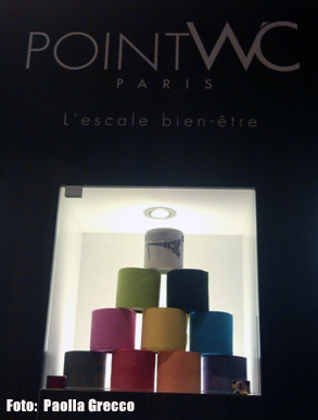Papel higiênico colorido da POINTWC