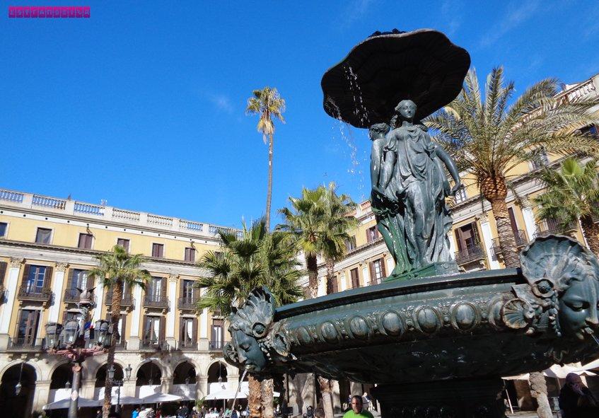 Fonte da Plaza Reial (Praça Real) - Barcelona