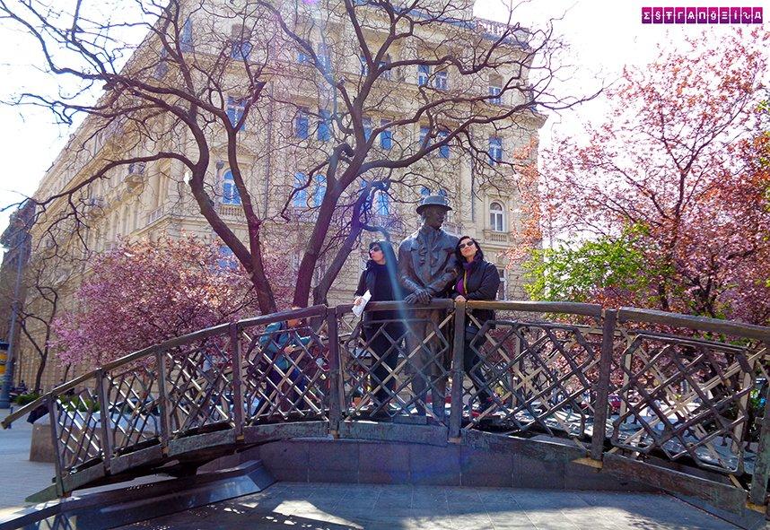 Ponte com escultura de Imer Nagy - Budapeste