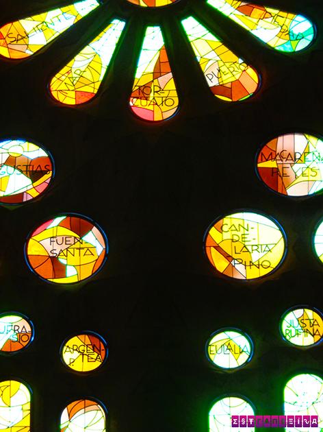 Detalhe dos vitrais