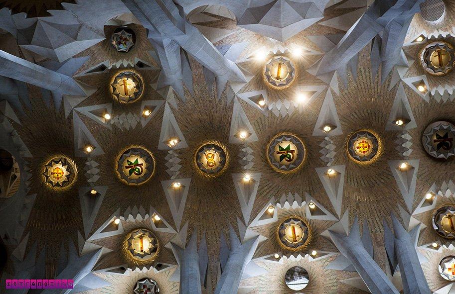 Teto da Sagrada Família em detalhe
