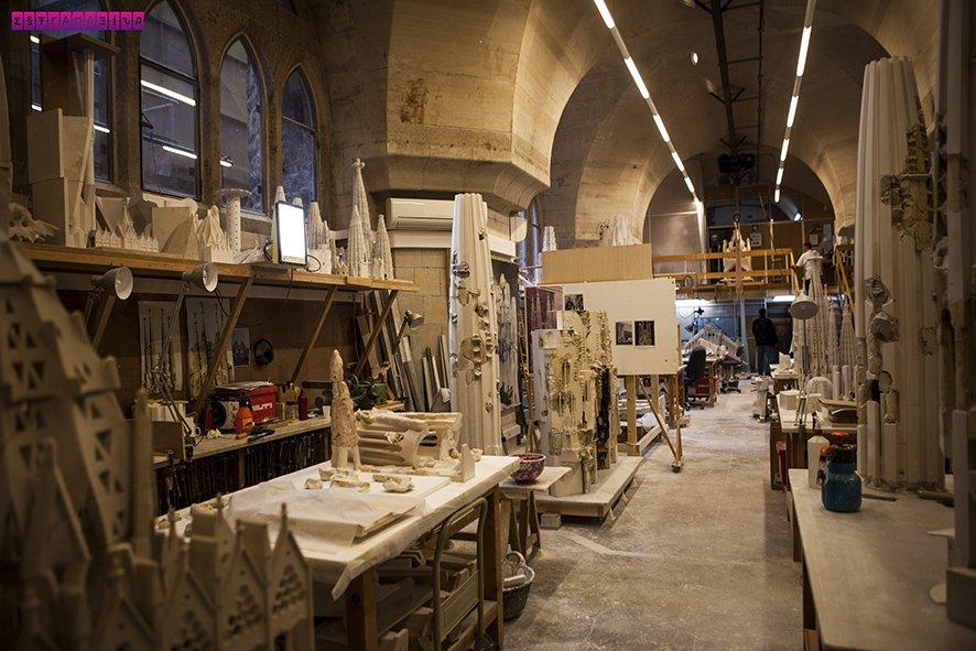 Ateliê de maquetes e restaurações da Sagrada Família