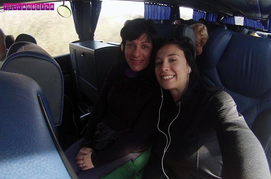No ônibus para Bratislava
