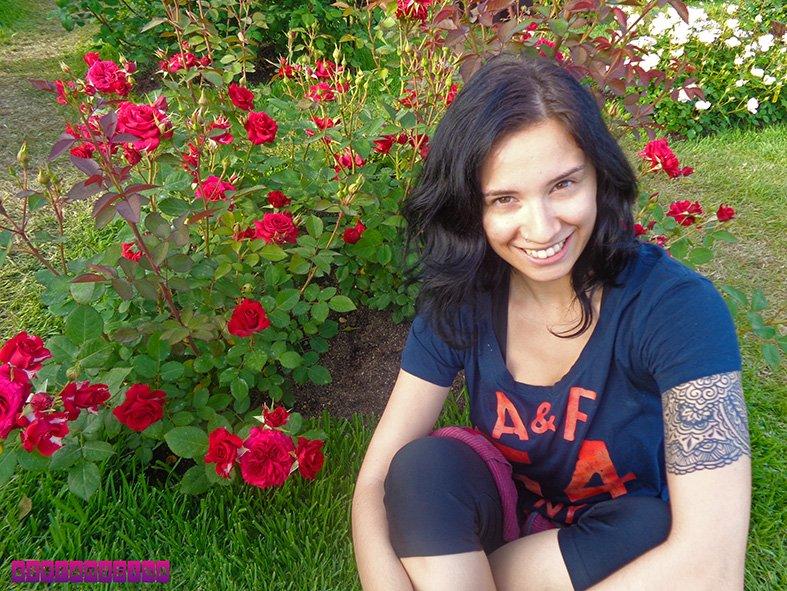 Rosas no Parque Cervantes