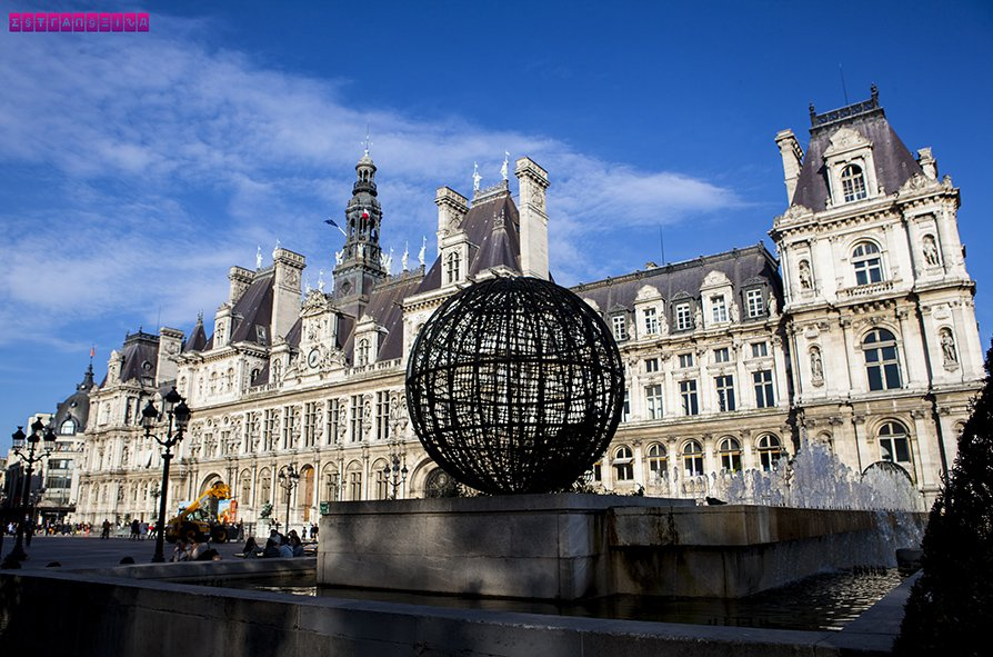 Hotel de Ville, onde hoje fica a prefeitura de Paris
