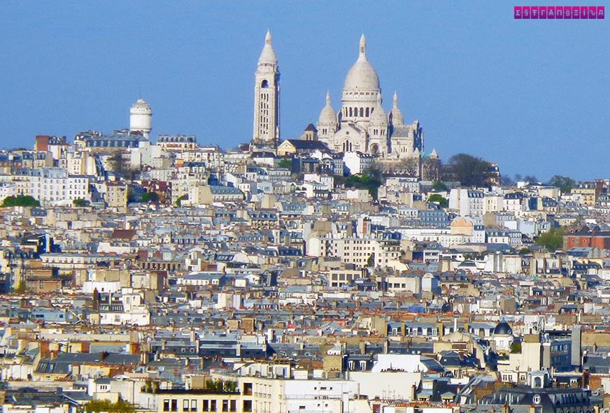 Sacre Coeur, visto do Arco do Triunfo.