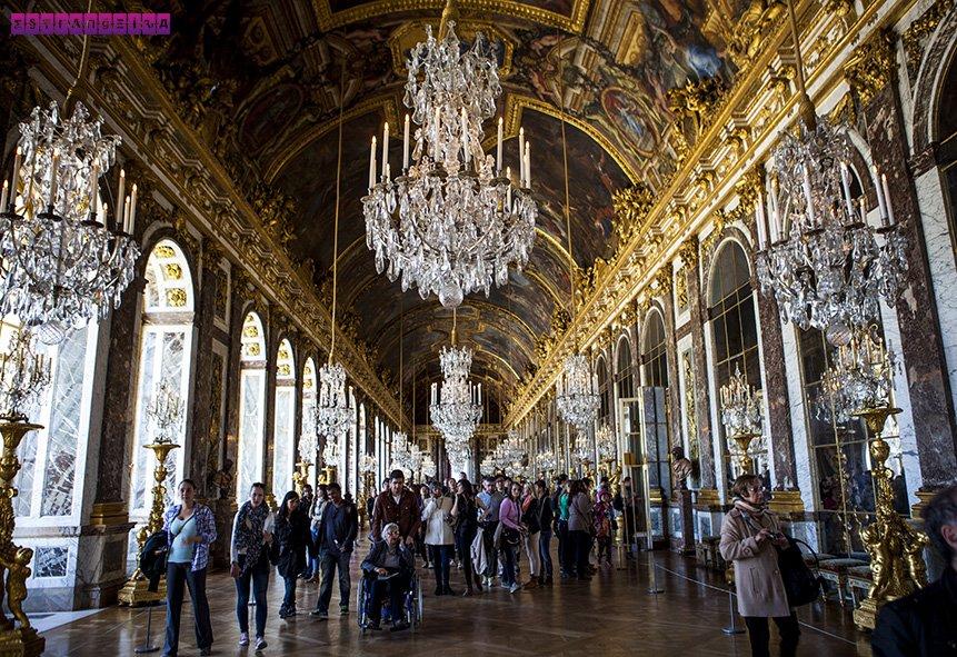 Salão de Cristal, a nossa parte favorita do Palácio de Versailles