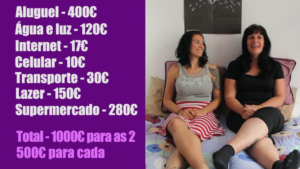 Tabela dos nossos gastos mensais morando na Espanha