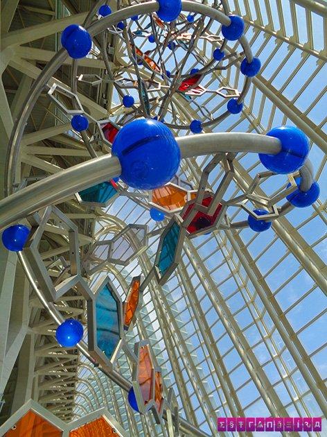 Estrutura do DNA no Museu de ciencias Príncipe Felipe