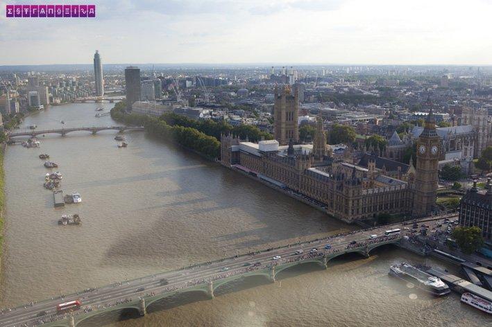 O Parlamento e o Big Ben vistos do alto da London Eye. Lindo demais!