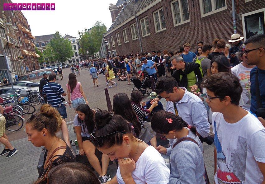 Fila na Casa de Anne Frank