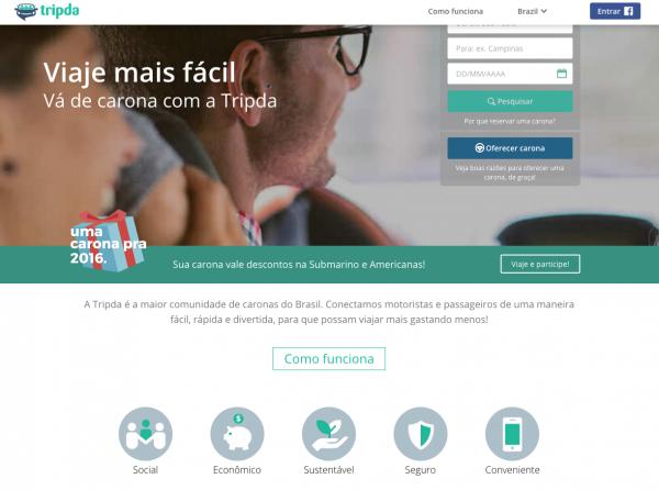 O TripDa é uma ótima opção pra caronas pagas no Brasil!