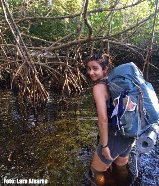 Atravessando o Mangue em Ilha Grande, morrendo de medo de caranguejos!