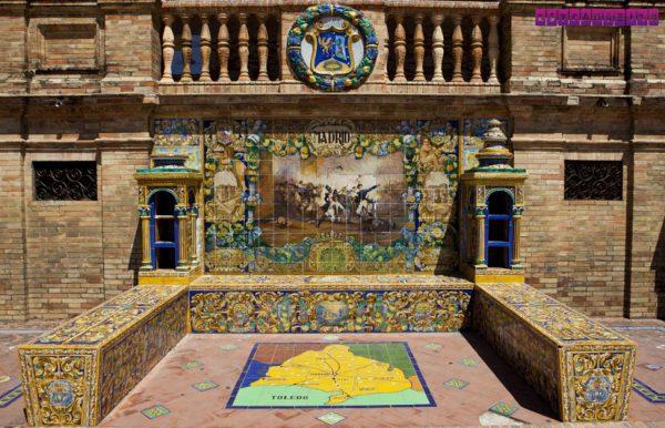 Detalhe dos ladrilhos da Praça Espanha (Sevilha).