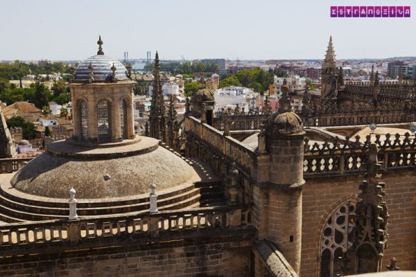 Topo da catedral La Giralda - subindo lá você terá uma bela vista de Sevilha.