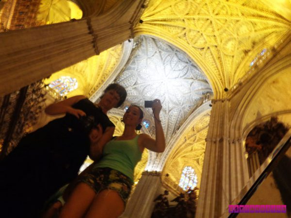 Antes de sair, uma selfie na La Giralda!