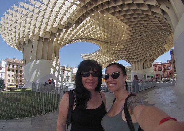 Mais uma foto no Metrosol Parasol, só pra deixar você doido pra conhecer Sevilha!