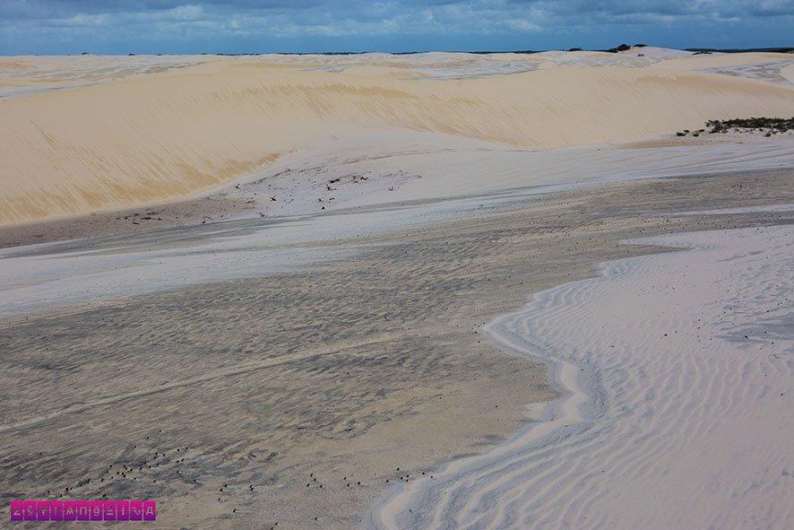 As dunas dos Lençóis Maranhenses são lindas!!!