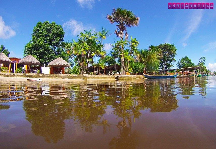 Aqui fica a comunidade de Tapuio e a Casa da Farinha