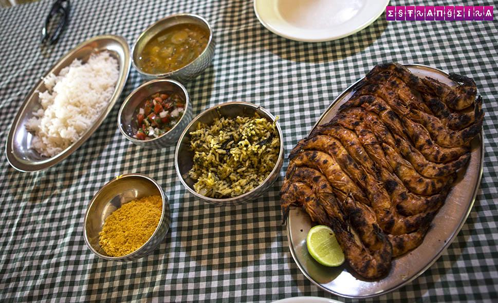 Camarão Grelhado no Restaurante xxxx em Raposa