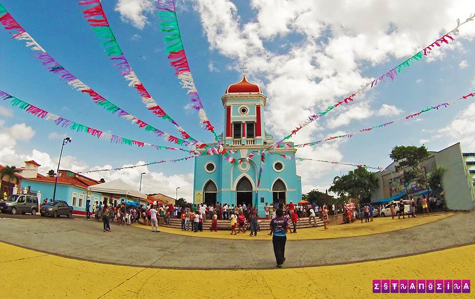 A igreja azul de São José de Ribamar