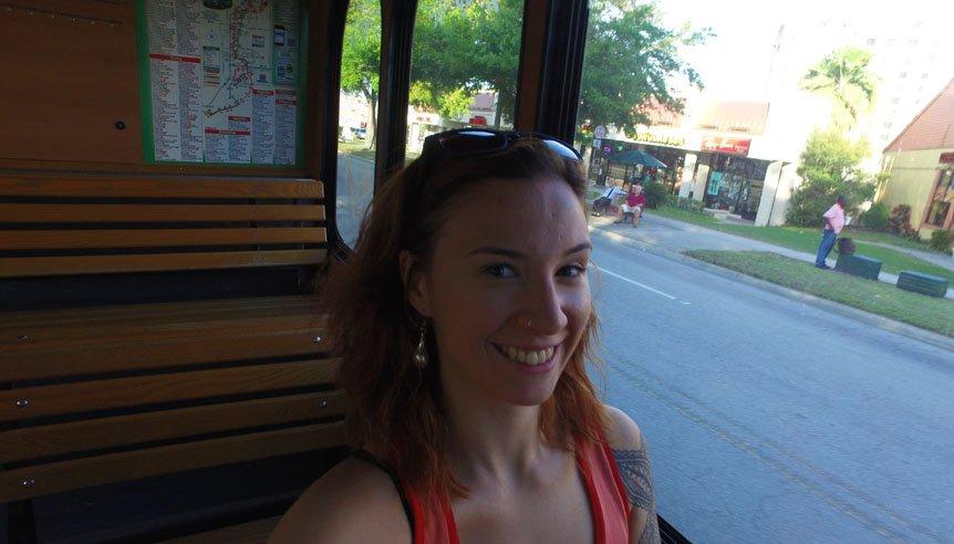 Eu feliz no transporte público!