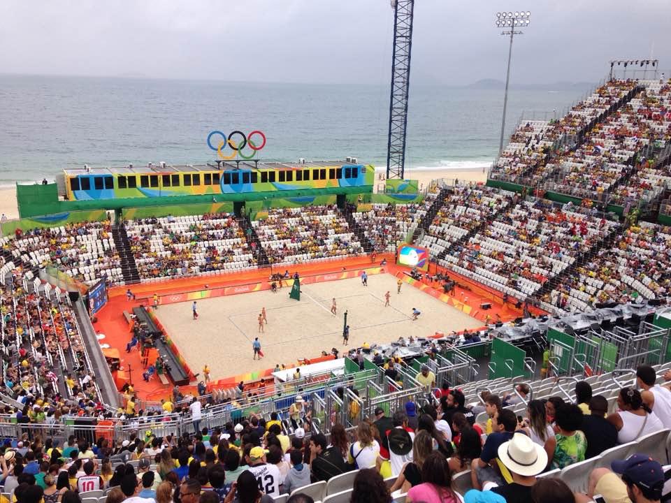 Arena do vôlei de praia em Copacabana