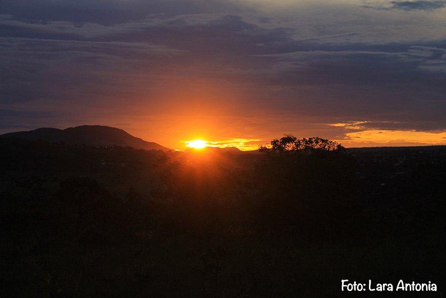 E um por-do-sol maravilhoso pra fechar a viagem com chave de ouro!