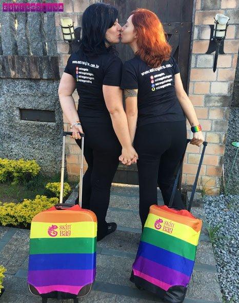 Orgulho LGBT com nossas capas de mala da Skinbag