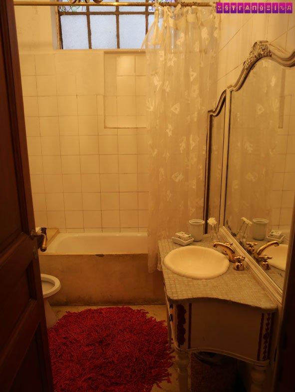 O nosso banheiro no Tesorito.