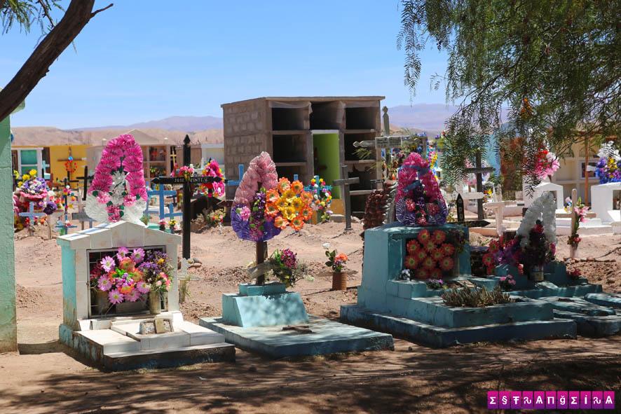 O cemitério de San Pedro de Atacama tem um charme especial...