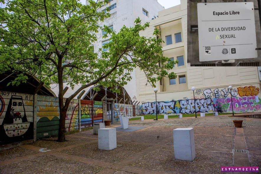 O Espaço Livre da Diversidade que fica no centro velho de Montevidéu