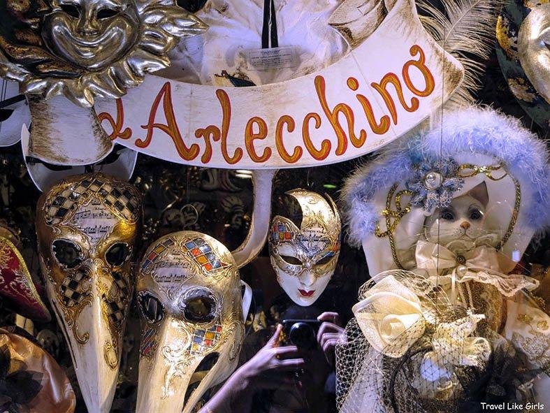 Máscaras carnavalescas de Veneza