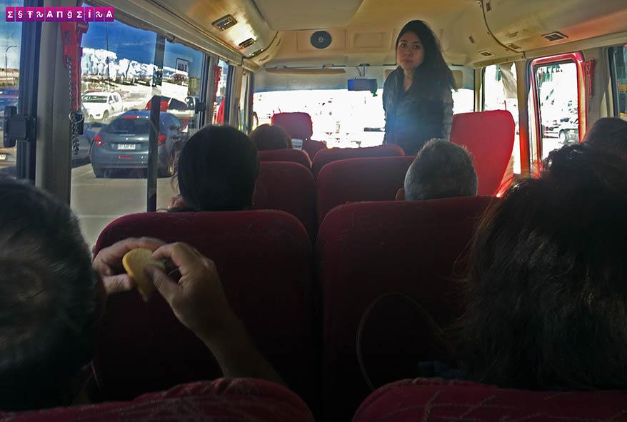 Dentro do nosso ônibus
