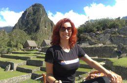 Gabi Torrezani em Machu Picchu. Fiz essa viagem sozinha e foi maravilhosa.