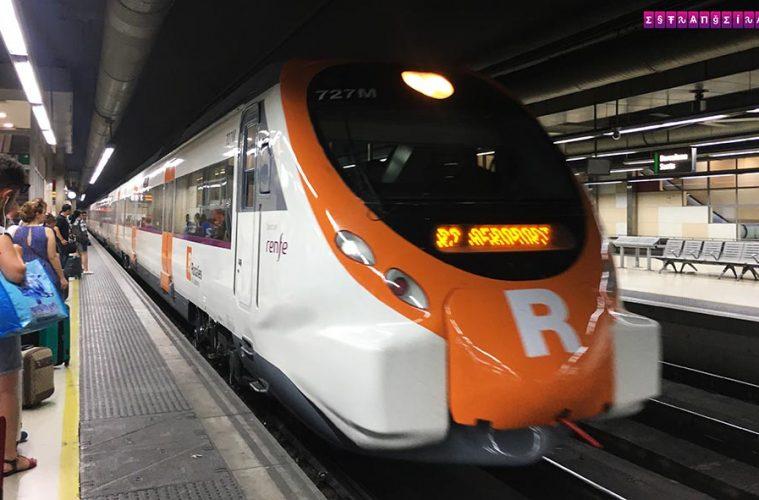 Aeroporto-Barcelona-transporte-Estrangeira-trem