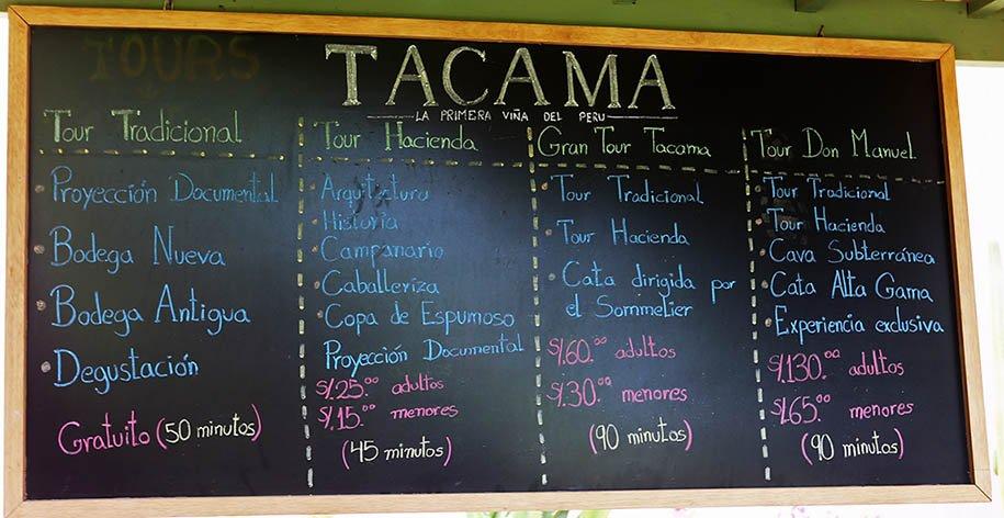 Escolha seu tour na Tacama