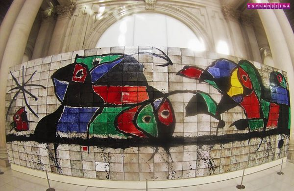 Painel de Mirò no MNAC de Barcelona